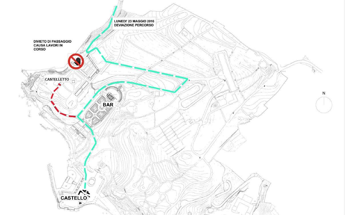mappa accesso castelletto