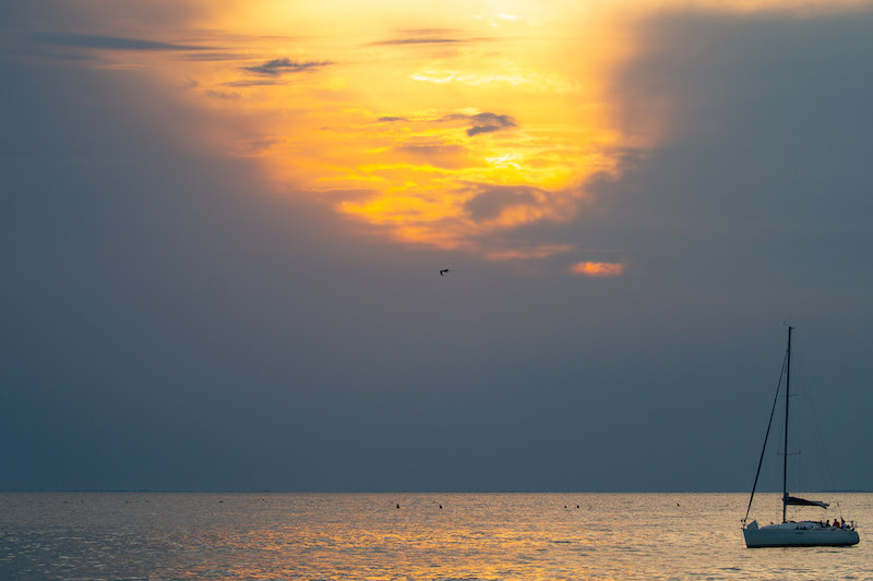 tramonto barca ds