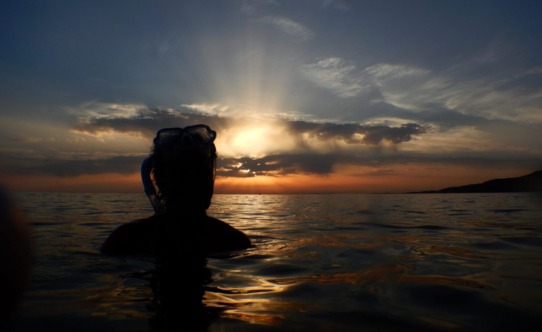 Snorkeling_AMP_Miramare_tramonto